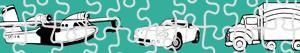 Coloriages Puzzles de Transport à colorier