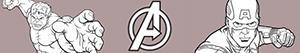 Coloriages Avengers. Les Vengeurs à colorier