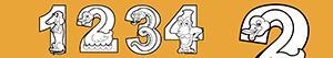 Coloriages Numéros comme des animaux à colorier